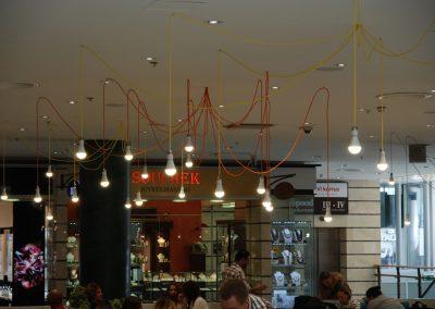 Tekstilni kablovi u kafiću