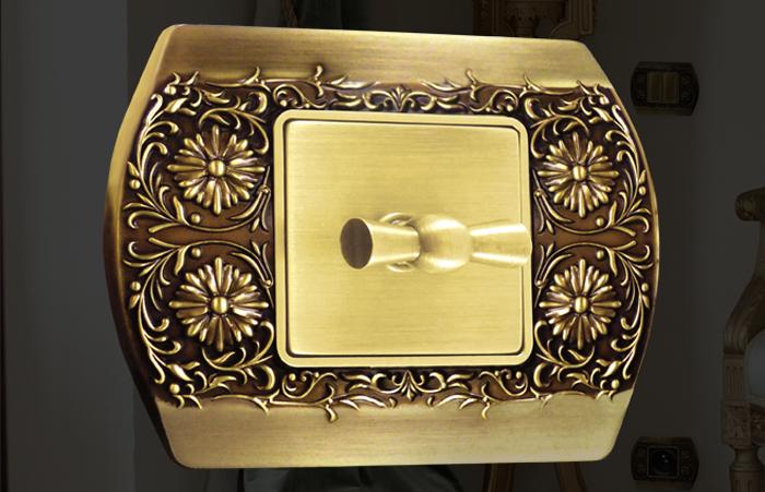 Sanremo FEDE - Kolekcija drvenih, metalnih i zlatnih prekidača