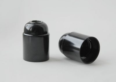 Grlo sijalično, bakelit, E27, crno