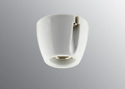 Grlo sijalično, porcelan, zidne/plafonske E 27, beo