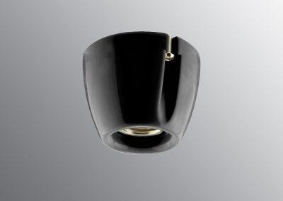 Grlo sijalično, porcelan, zidne/plafonske E 27, crno