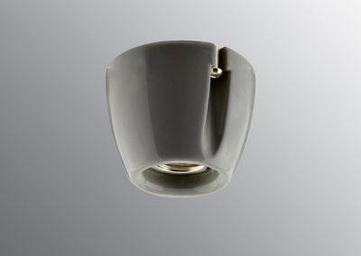 Grlo sijalično, porcelan, zidne/plafonske E 27, sivo