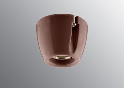 Porcelan sijalično grlo zidne/plafonske E 27, braon
