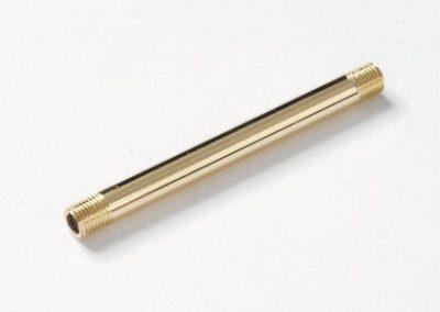 Cev sa obostranim navojem, zlatna, 500 mm